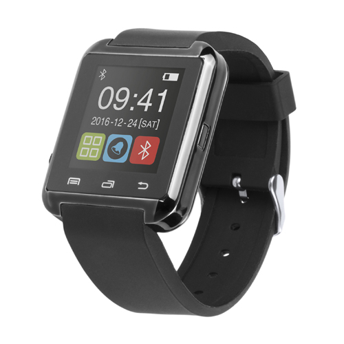 Smartwatch + reloj inteligente + Android + bluetooth + recargable USB+azul