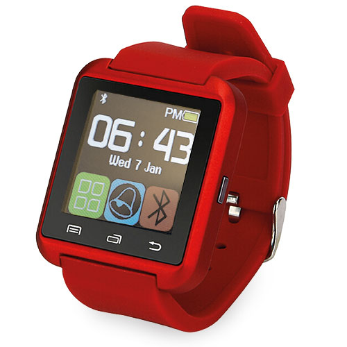 SmartWatch Reloj inteligente Bluetooth Rojo
