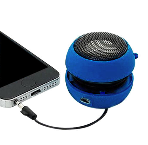 Mini Altavoz Hamburguesa Movil Iphone Azul Mini Jack USB