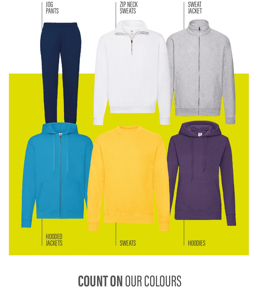 Fruit of The Loom - sudaderas chaquetas pantalones - textil Agencia Internet