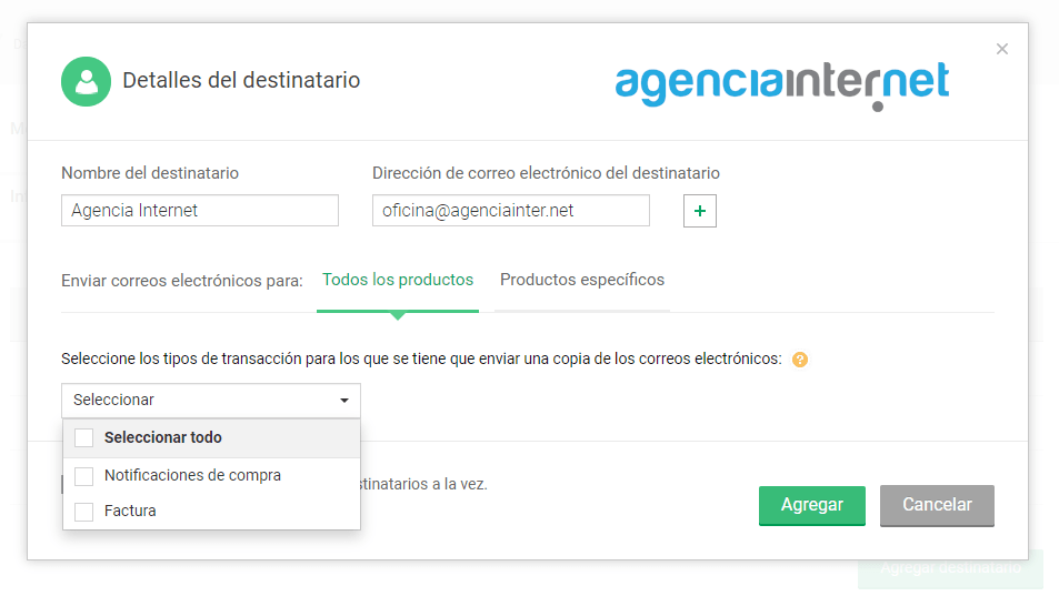 Zoho-Payments-detalles-destinatario